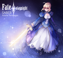 Fate/stay night - SABER by kerogi-haku