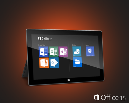Office 15 on Surface by Brebenel-Silviu