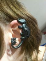 HTTYD Night fury ear cuff by 77Flower77