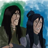 Ming Hua and Ghazan Portrait Coloured by kuraimatsuda