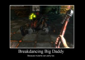 Breakdancing Big Daddy by SolarDragon