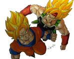 Goku and Bardock by MikeES