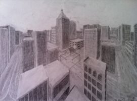 2-point Perspective Drawing by Shiloh-Tovah