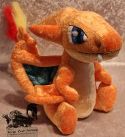Mega Charizard Y Plush - Pokemon by Forge-Your-Fantasy