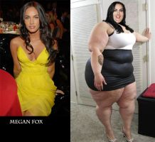 SSBBW Megan Fox by Caffeine-Cycle