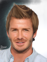 David Beckham - digital painting portrait by fawwaz1
