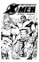 Sketch Cover X-Men Hulk SOTD by RobertAtkins