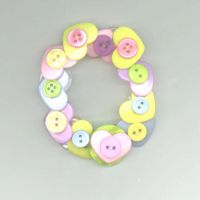 Heart Button Bracelet by RyuuseiHime