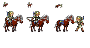 Link and Epona Sprite by SharinganAce