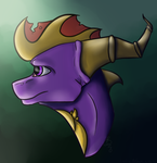 Spyro Bust by Cosmic-Brownie