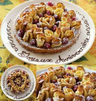 Flowery Apple and Raspberry Tart by Rea-the-squirrel