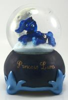 PRINCESS LUNA SNOW GLOBE Custom Sculpture FIM by MadPonyScientist