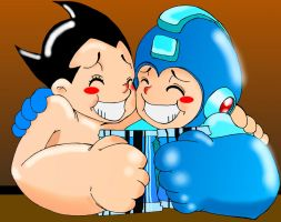 AstroBoy n Megaman by PAPERS0UL