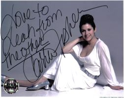 Carrie Fisher Autograph by FenigDurak