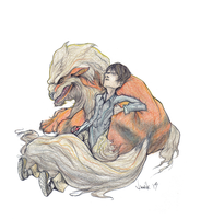 Liam and Arcanine by demik109