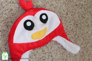 Red Bird Fleece Hat by SugiAi