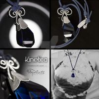 Kinetica Crystal Silver Pendant Necklace by popnicute