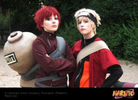 Naruto and Gaara by Leifa