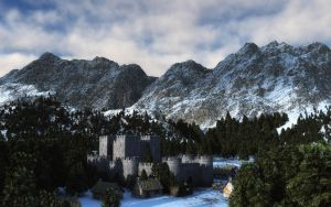 Cold Mountain Castle by afterdeath