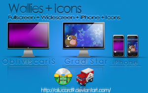 Wallies + Icons by Allucard9