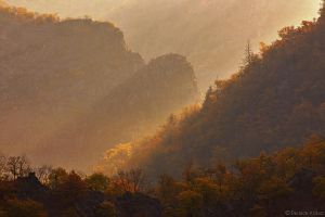 Misty autumnal Bodetal canyon by functionizer