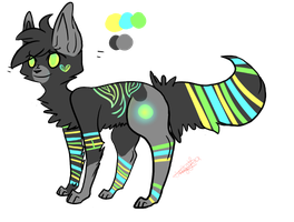 Neon cat adoptable closed by SandxFire-Adopts