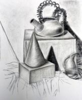 cone teapot and pitcher by HappyChupacabra