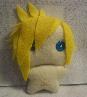 Naked Cloud Strife Plushie by Airmidian