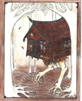baba yaga's hut by Invisable-Ink