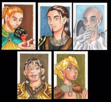 DA:A Sketchcard set by bukittyan