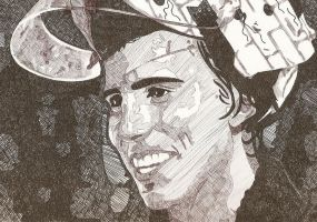 Marc-Andre Fleury...in Pen by XStitchedxDreamsX