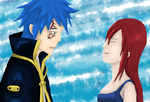 Erza and Jellal by VvHazelvV