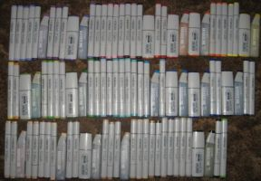 my current copic collection by kukuramutta