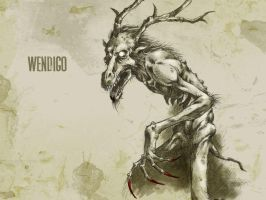 #31DaysOfMonsters Day7: Wendigo by franciscomoxi