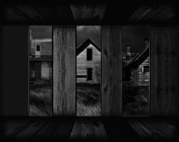 Spooky Neighbors background by mysticmorning