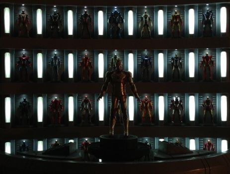 Iron Man 3 Hall of Armor Display 4 by AdamC11779