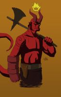 Hellboy Sketch 2 by tatedoodles