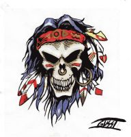 Indian Skull by LordGusst