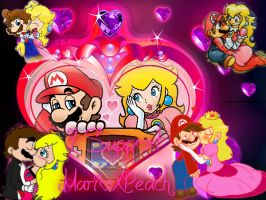 MarioXPeach Stamp 2 by pinkprincess-peach
