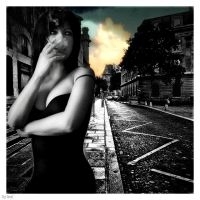 Lady in smoke town by lital108