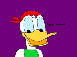 Donald Duck wishes Happy Halloween by MarcosLucky96