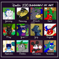 Summery of Art Meme 2010 by Dobie-Takahama