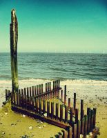 Caister Beach by VikklePickle
