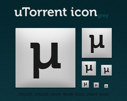 uTorrent icon grey by dmpr0