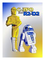 C-3PO and R2-D2- The Reluctant and the Adventurer by TheScarletMercenary