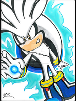Silver the Hedgehog (again?!) by MaRiaMonicaGL