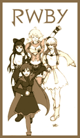 Team RWBY by KAIZA-C