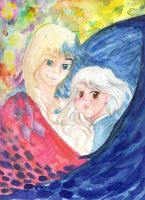 Howl and Sophie by hookedonstephanics