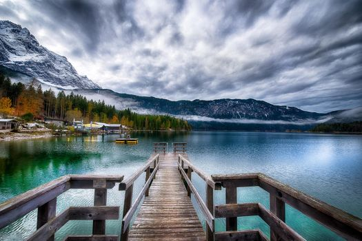 tranquillity, Eibsee Germany by alierturk