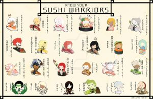 SW: Know Your Sushi Warriors by Royal-Jelliefish